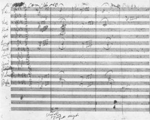 Manuscritos de las mejores obras de la llamada música clásica