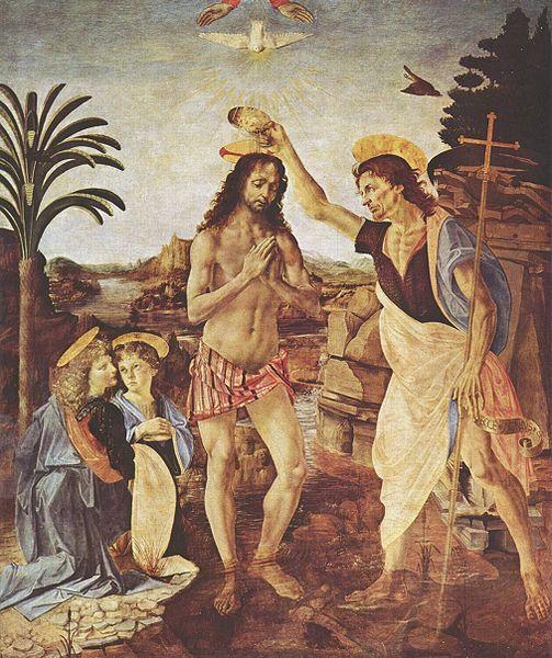 Verrocchio Bautismo de Cristo