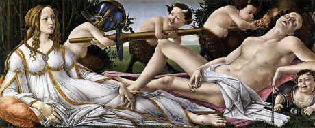 Botticelli Venus y Marte