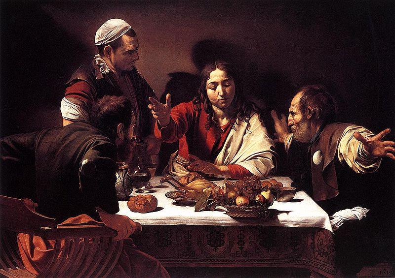 Caravaggio Cena de Emaus