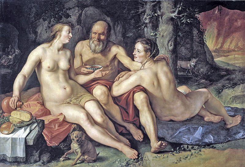 Goltzius Lot y sus hijas