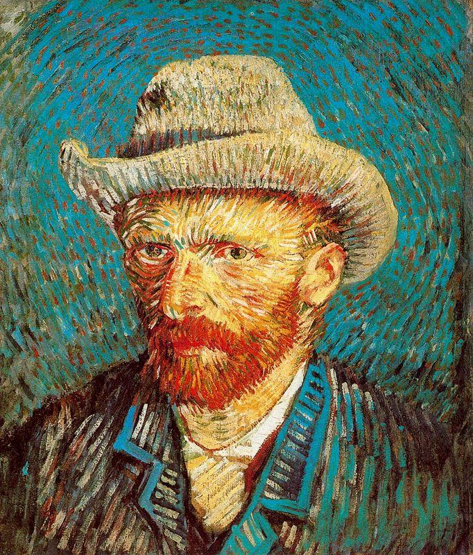 Van Gogh Autorretrato con sombrero de fieltro