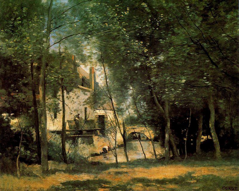 Corot El molino de San Nicolas