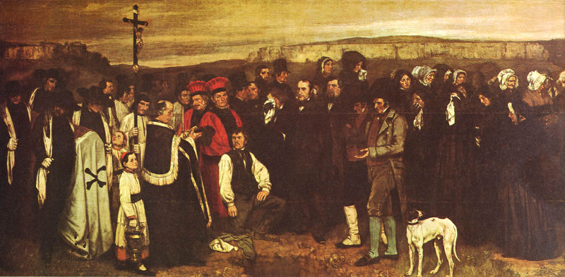 Courbet Entierro en Ornans, Museo de Orsay