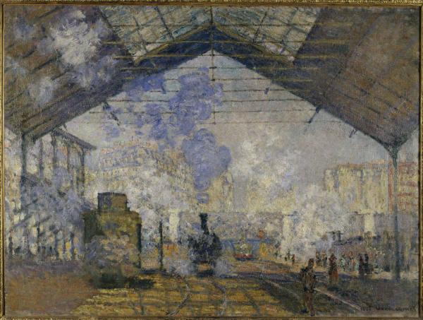 LA ESTACIÓN DE SAINT-LAZARE de Monet