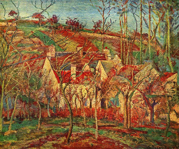 Pisarro Los tejados rojos, Museo de Orsay