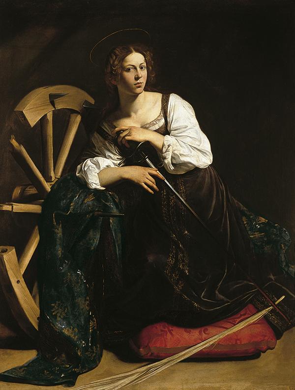SANTA CATALINA DE ALEJANDRÍA de Caravaggio