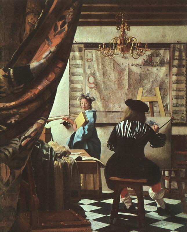 ALEGORÍA DE LA PINTURA de Jan Vermeer van Delft