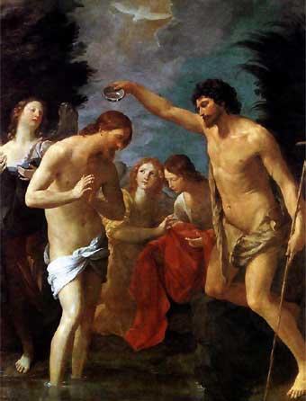 EL BAUTISMO DE CRISTO de Guido Reni