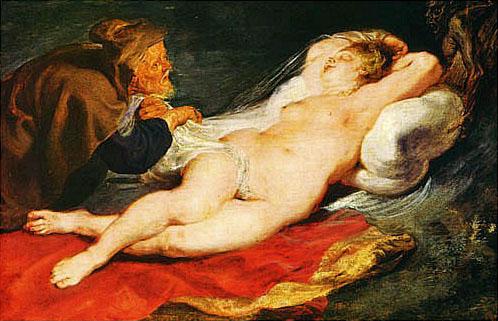 ANGÉLICA Y EL EREMITA de Peter Paul Rubens
