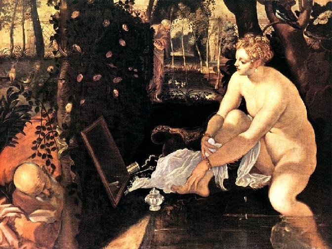 SUSANA EN EL BAÑO de Tintoretto