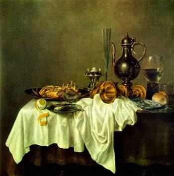 desayuno con centollo claesz