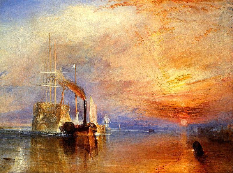 El Temerario remolcado a su último destino – Turner