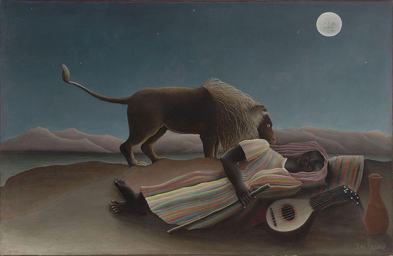 Henri Rousseau Gitana dormida, Moma