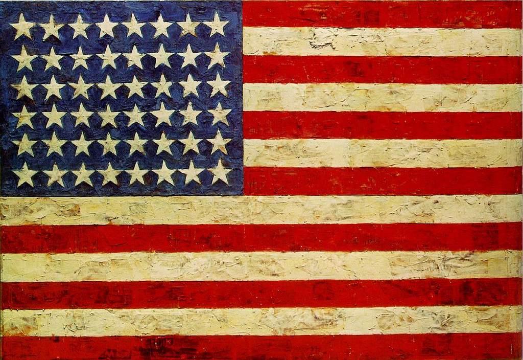 Jasper johns Bandera EEUU