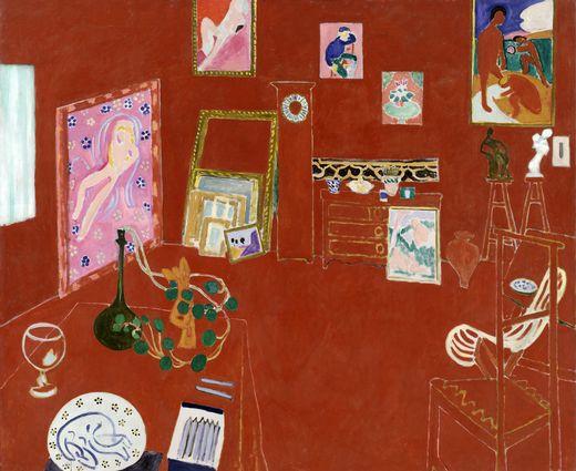 Matisse El estudio rojo, Moma