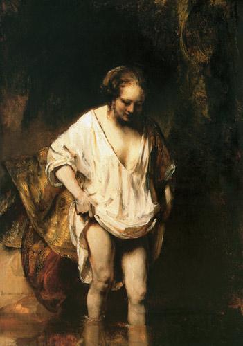Rembrandt Mujer bañándose
