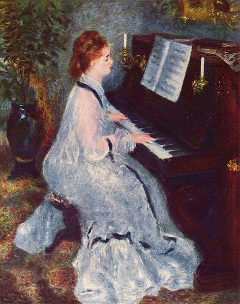 Renoir mujer al piano
