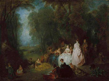 Watteau fiesta campestre