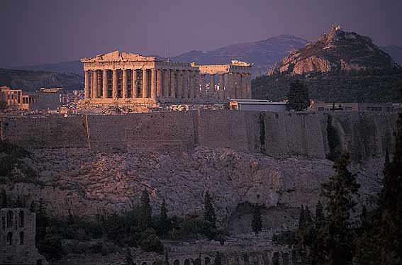 Imágenes del Partenón vista de lejos