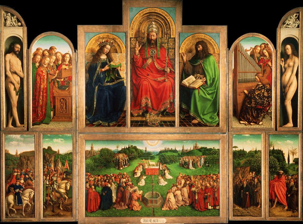 POLÍPTICO DEL CORDERO MÍSTICO -Van Eyck