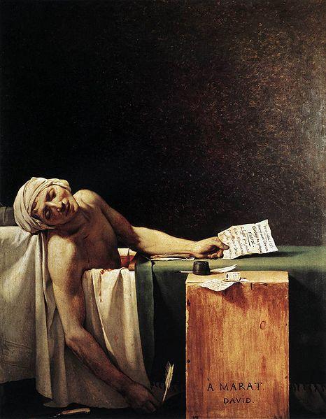 La muerte de Marat – Jacques-Louise David