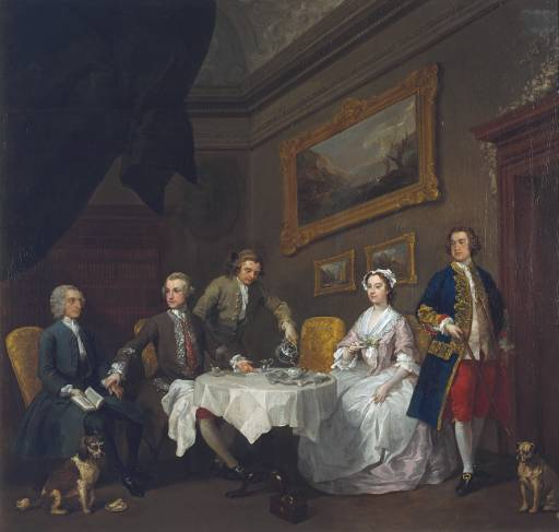 LA FAMILIA STRODE de William Hogarth
