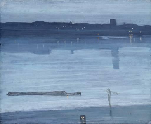 NOCTURNO: AZUL Y PLATA (CHELSEA) de James McNeillWhistler