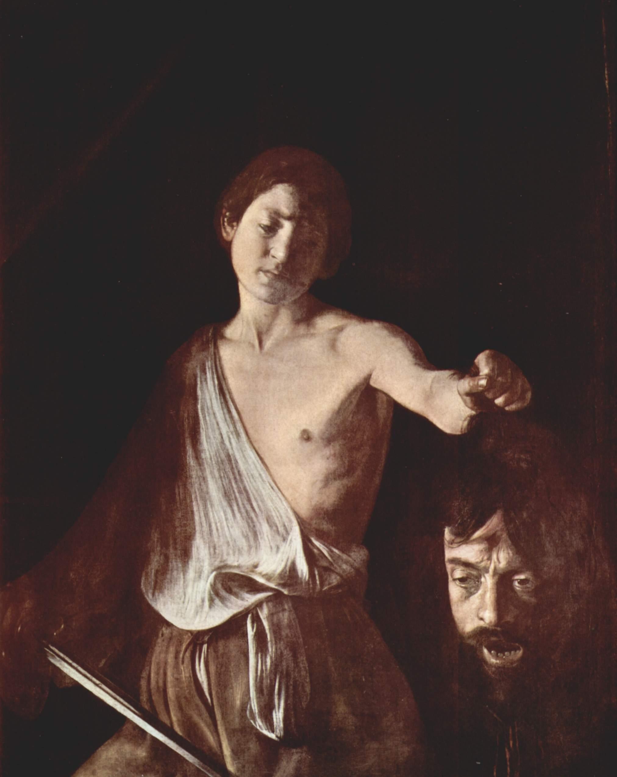 Galería Borghese, David Goliat Caravaggio