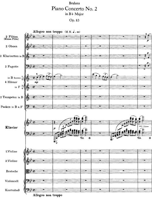 Concierto para piano nº2 en Si bemol mayor, Op. 83, de Johannes ...