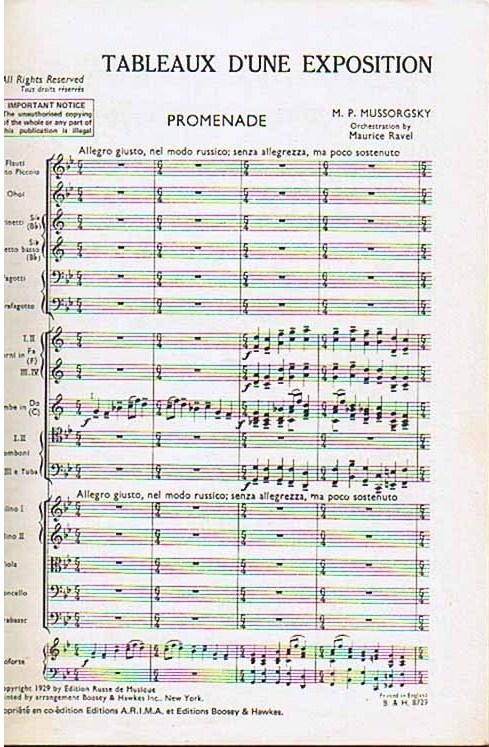 La partitura orquestal