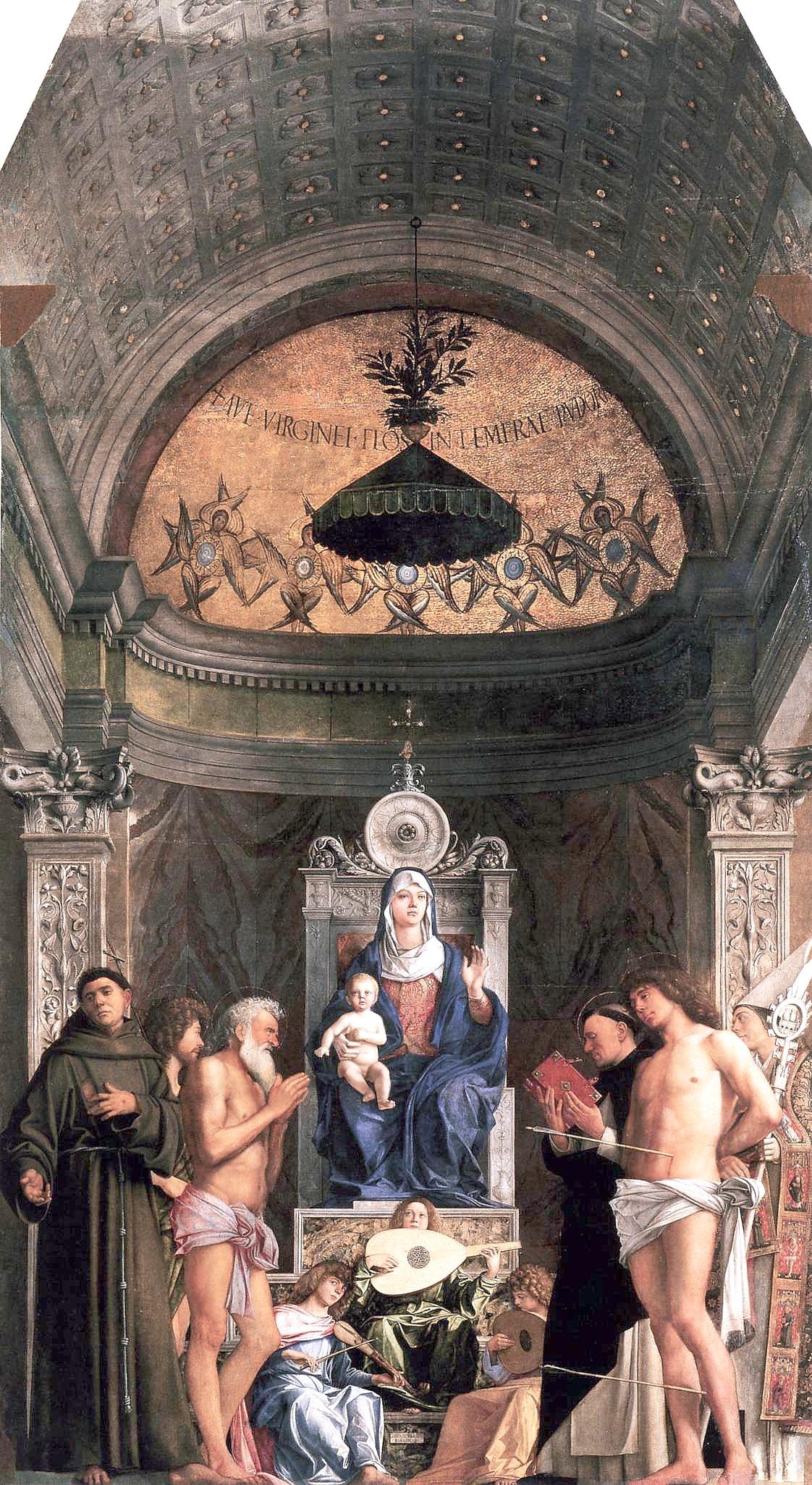 Retablo Santo Job Giovanni Bellini, Galería de la Academia de Venecia