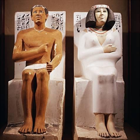 Grupo de Rahotep y Nofret – Autor desconocido