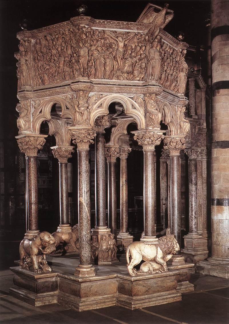 Púlpito de la catedral de Siena – Nicola Pisano